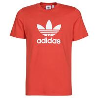 textil Herre T-shirts m. korte ærmer adidas Originals TREFOIL T-SHIRT Rød / Frodig
