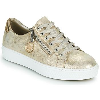 Sko Dame Lave sneakers Rieker LIROS Guld