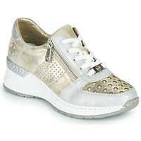 Sko Dame Lave sneakers Rieker LEA Guld / Sølv