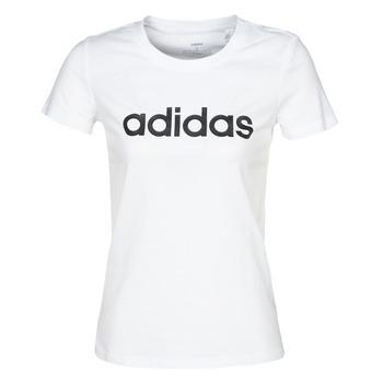 textil Dame T-shirts m. korte ærmer adidas Performance E LIN SLIM T Hvid
