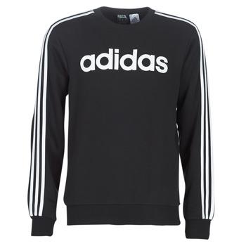 textil Herre Sweatshirts adidas Performance E 3S CREW FL Sort