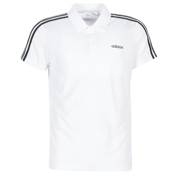 textil Herre Polo-t-shirts m. korte ærmer adidas Performance M D2M CLA 3S PO Hvid