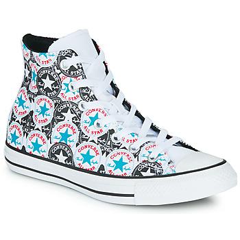 Sko Dame Høje sneakers Converse CHUCK TAYLOR ALL STAR LOGO PLAY Hvid / Sort / Flerfarvet