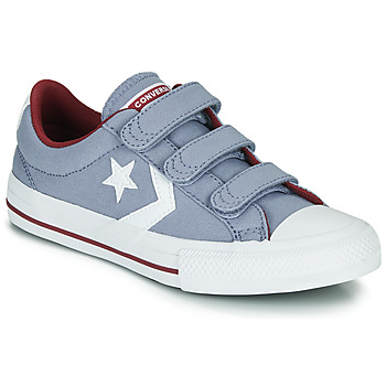 Sko Dreng Lave sneakers Converse Star Player 3V Varsity Canvas Grå