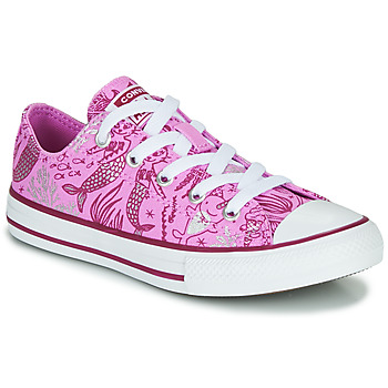 Sko Pige Høje sneakers Converse CHUCK TAYLOR ALL STAR UNDERWATER PARTY Pink / Flerfarvet