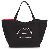 Tasker Dame Shopping Karl Lagerfeld RUE ST GUILLAUE CANVAS TOTE Sort