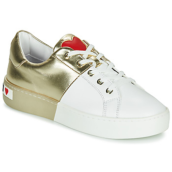 Sko Dame Lave sneakers Love Moschino BI-COLOR SHOES Hvid / Guld