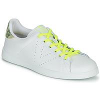 Sko Dame Lave sneakers Victoria TENIS PIEL FLUO Hvid / Gul