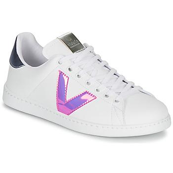 Sko Dame Lave sneakers Victoria TENIS VINILO Hvid / Blå