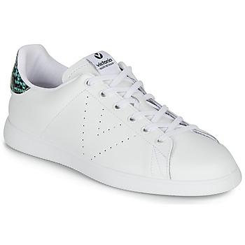 Sko Dame Lave sneakers Victoria TENIS PIEL SERPIENTE Hvid / Blå