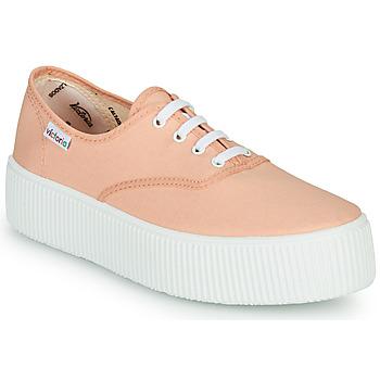 Sko Dame Lave sneakers Victoria DOBLE LONA Koral