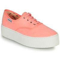 Sko Dame Lave sneakers Victoria DOBLE FLUO Koral