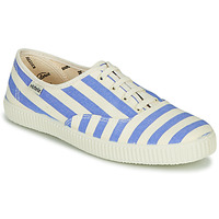 Sko Dame Lave sneakers Victoria NUEVO RAYAS Hvid / Blå