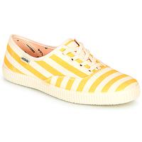 Sko Dame Lave sneakers Victoria NUEVO RAYAS Gul / Hvid