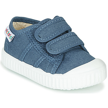 Sko Børn Lave sneakers Victoria BASKET VELCRO Blå