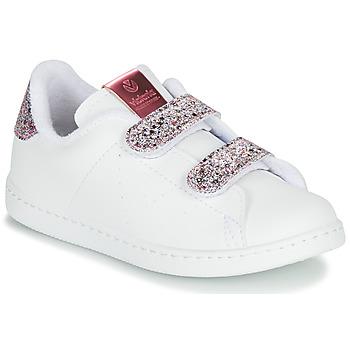 Sko Pige Lave sneakers Victoria TENIS VELCRO G Hvid