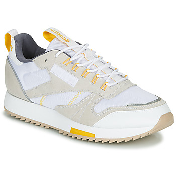 Sko Dame Lave sneakers Reebok Classic CL LEATHER RIPPLE T Beige / Hvid