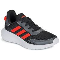 Sko Dreng Lave sneakers adidas Performance TENSAUR RUN K Sort / Rød
