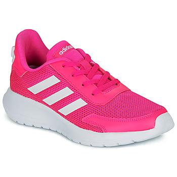 Sko Pige Lave sneakers adidas Performance TENSAUR RUN K Pink / Hvid