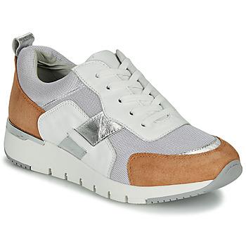 Sko Dame Lave sneakers Caprice BEBENE Hvid / Kamel
