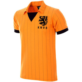 textil Herre T-shirts m. korte ærmer Copa Football Maillot rétro Pays-Bas 1983 orange