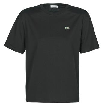 textil Dame T-shirts m. korte ærmer Lacoste BERNARD Sort