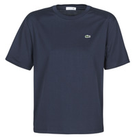 textil Dame T-shirts m. korte ærmer Lacoste  Marineblå