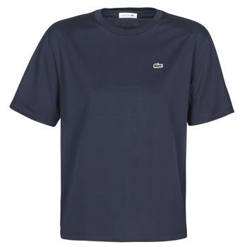textil Dame T-shirts m. korte ærmer Lacoste ELOI Marineblå