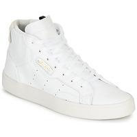 Sko Dame Lave sneakers adidas Originals adidas SLEEK MID W Hvid