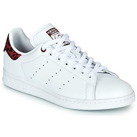 Sko Dame Lave sneakers adidas Originals STAN SMITH W Hvid / Bordeaux