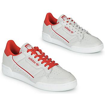 Sko Lave sneakers adidas Originals CONTINENTAL 80 Beige / Rød