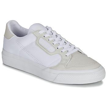 Sko Børn Lave sneakers adidas Originals CONTINENTAL VULC J Hvid / Beige