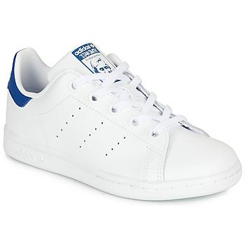 Sko Børn Lave sneakers adidas Originals STAN SMITH C Hvid / Blå