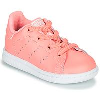 Sko Pige Lave sneakers adidas Originals STAN SMITH EL I Pink
