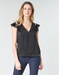 textil Dame Toppe / Bluser Guess SS DAHAB TOP Sort