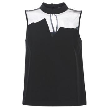 textil Dame Toppe / Bluser Guess SL MAYA TOP Sort