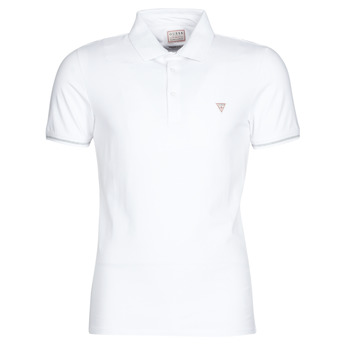 textil Herre Polo-t-shirts m. korte ærmer Guess AMIAS SS POLO Hvid