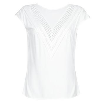 textil Dame Toppe / Bluser Guess SS MALIKA TOP Hvid