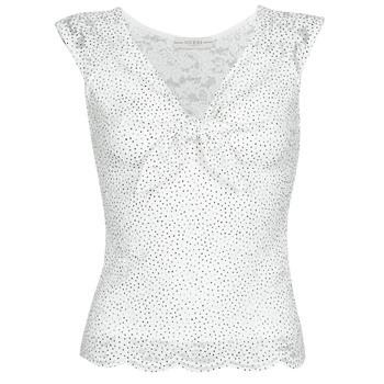 textil Dame Toppe / Bluser Guess GIUNONE TOP Hvid