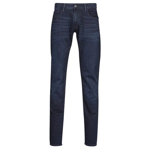textil Herre Smalle jeans Le Temps des Cerises 711 JOGG Blå / Sort
