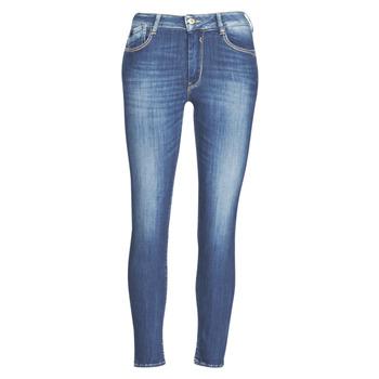 textil Dame Smalle jeans Le Temps des Cerises PULP SLIM TAILLE HAUTE 7/8 Blå