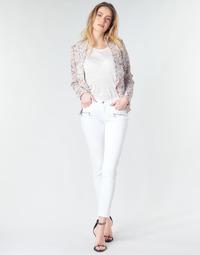 textil Dame Jeans - skinny Le Temps des Cerises KIEV SKINY7/8 Hvid