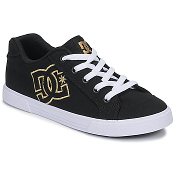 Sko Dame Lave sneakers DC Shoes CHELSEA TX Sort / Guld
