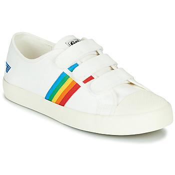 Sko Dame Lave sneakers Gola COASTER RAINBOW VELCRO Hvid