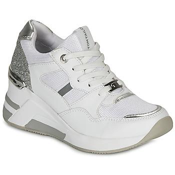 Sko Dame Lave sneakers Tom Tailor 8091512 Hvid / Sølv