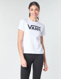 textil Dame Langærmede T-shirts Vans FLYING V CREW TEE Hvid