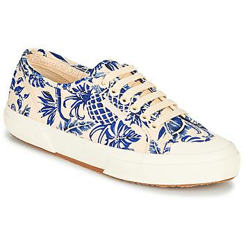 Sko Dame Lave sneakers Superga 2294-COTFANW Beige / Blå