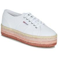 Sko Dame Lave sneakers Superga 2790-COTCOLOROPEW Hvid / Pink