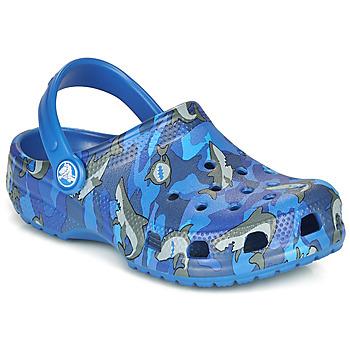 Sko Dreng Træsko Crocs CLASSIC SHARK CLOG Blå