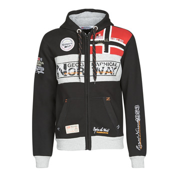 textil Herre Sweatshirts Geographical Norway FLYER Sort
